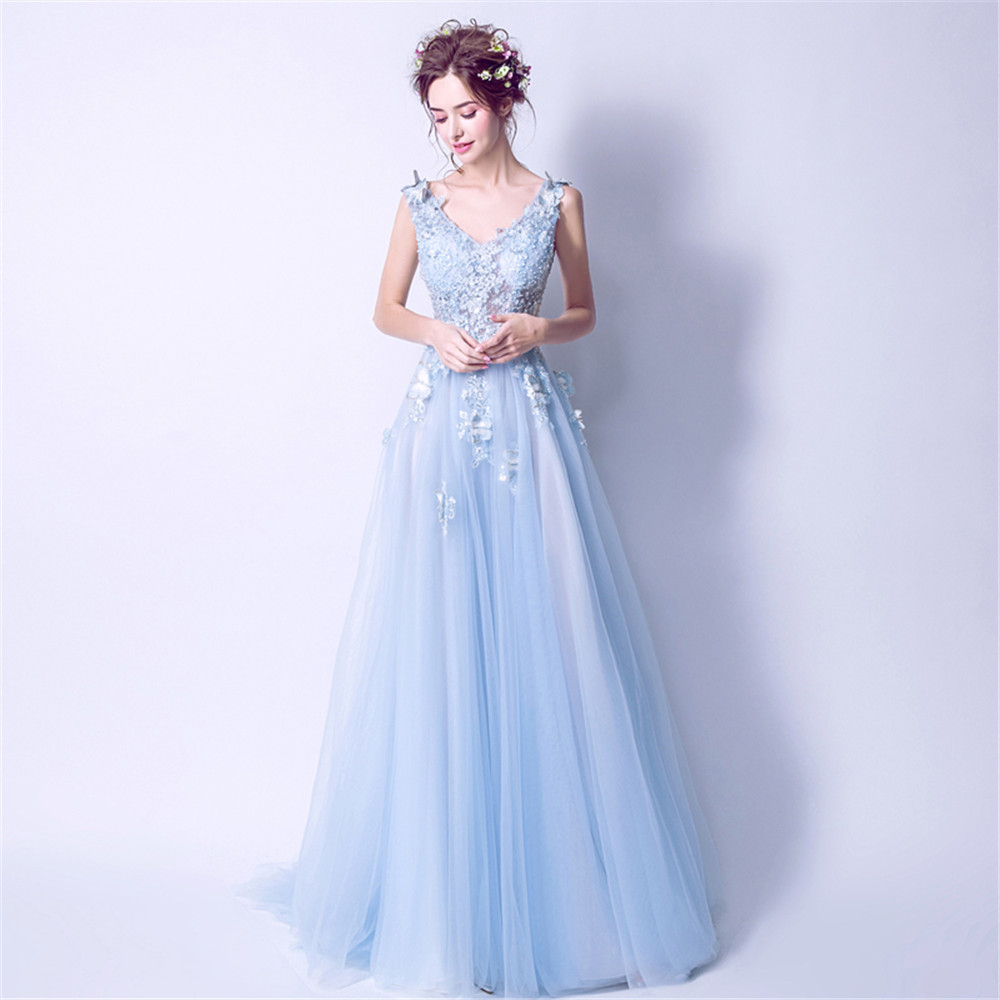 Long   Prom     Dresses   Hollow Out Sexy Women Evening Gown V-neck Fairy Perlen Kleid Formal Party Sleeveless Abendkleider Luxury Beads