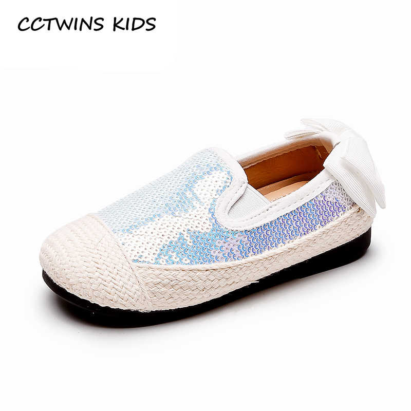 Çocuk Ayakkabı 2019 Çocuk Yeni Sonbahar Ayakkabı Bebek Kız Moda Glitter Papyon rahat ayakkabılar Toddler Siyah Nefes Yumuşak Espadrilles