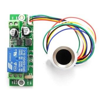 DIY Био Распознавание отпечатков пальцев модуль контроля аутентификации отпечатков пальцев релейный модуль для контроля доступа 12В 24В