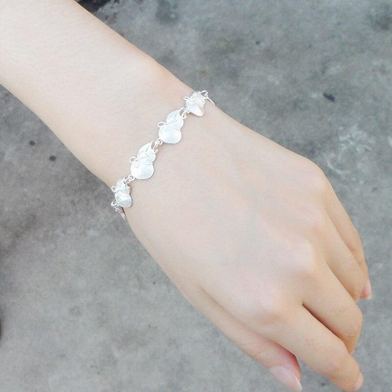 999 Bracelet en argent Sterling gourde chinois fait à la main ethnique Miao bijoux chaîne en argent charmes femmes Bracelets chaîne Bracelets