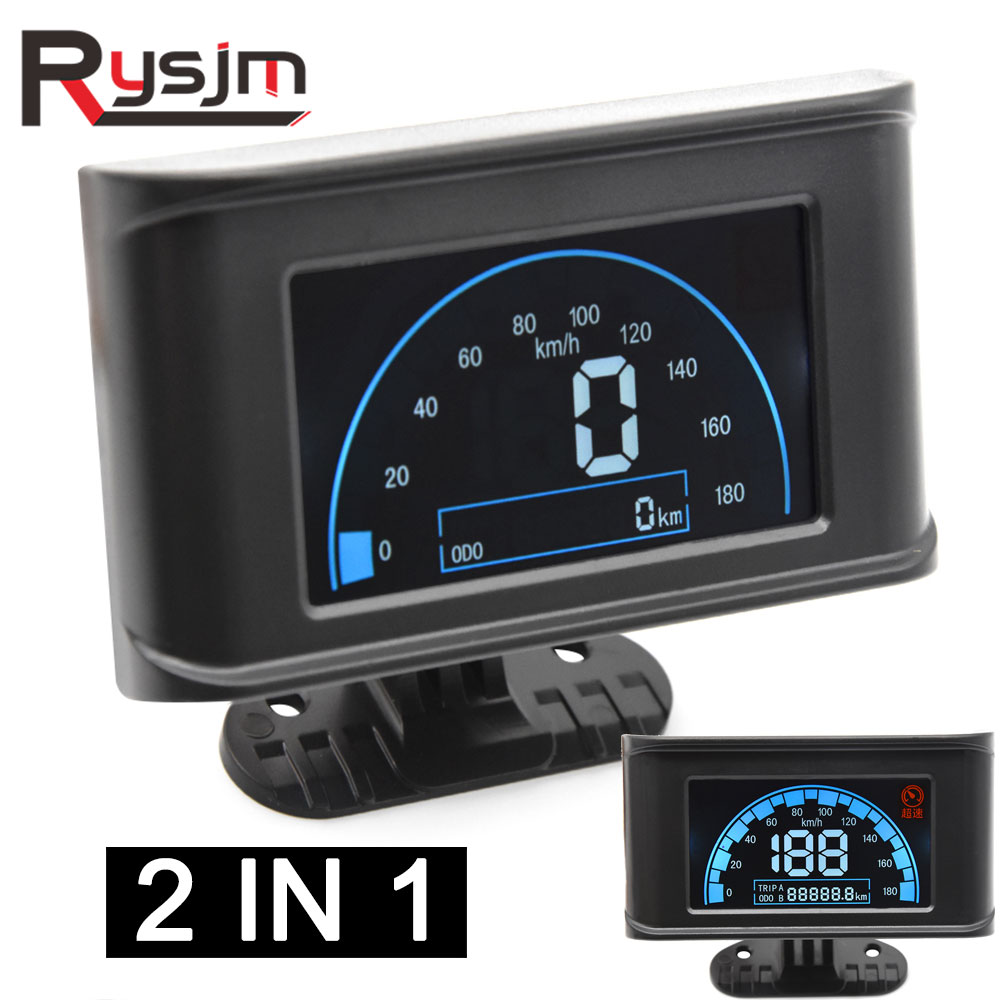 lcd instrument panel Digital 12v 24v Car Truck Speedometer Speed Meter Odometer Gauge motorcycle Universal fit for <font><b>toyota</b></font> <font><b>ae101</b></font> image