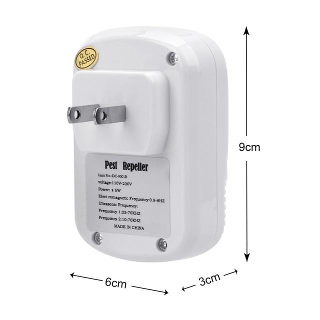 HILIFE  EU/US Plug Cockroach Trap Mouse Killer 110-240V/5W Electronic Ultrasonic Pest Control Repeller 5