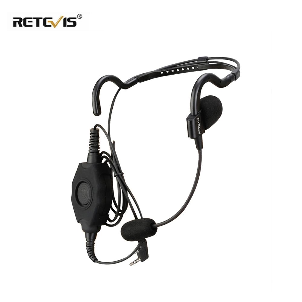 EHK006 Behind-the-Head Tactical Headset Boom Microphone With IP54 Waterproof  PTT For Kenwood 2 Pin Walk Talk C9127A