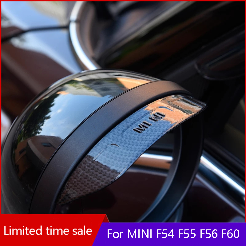 2pcs For BMW MINI COOPERS ONE JCW F54 F55 F56 F60 car exterior rearview mirror rain cover clubman countyman car Accessories