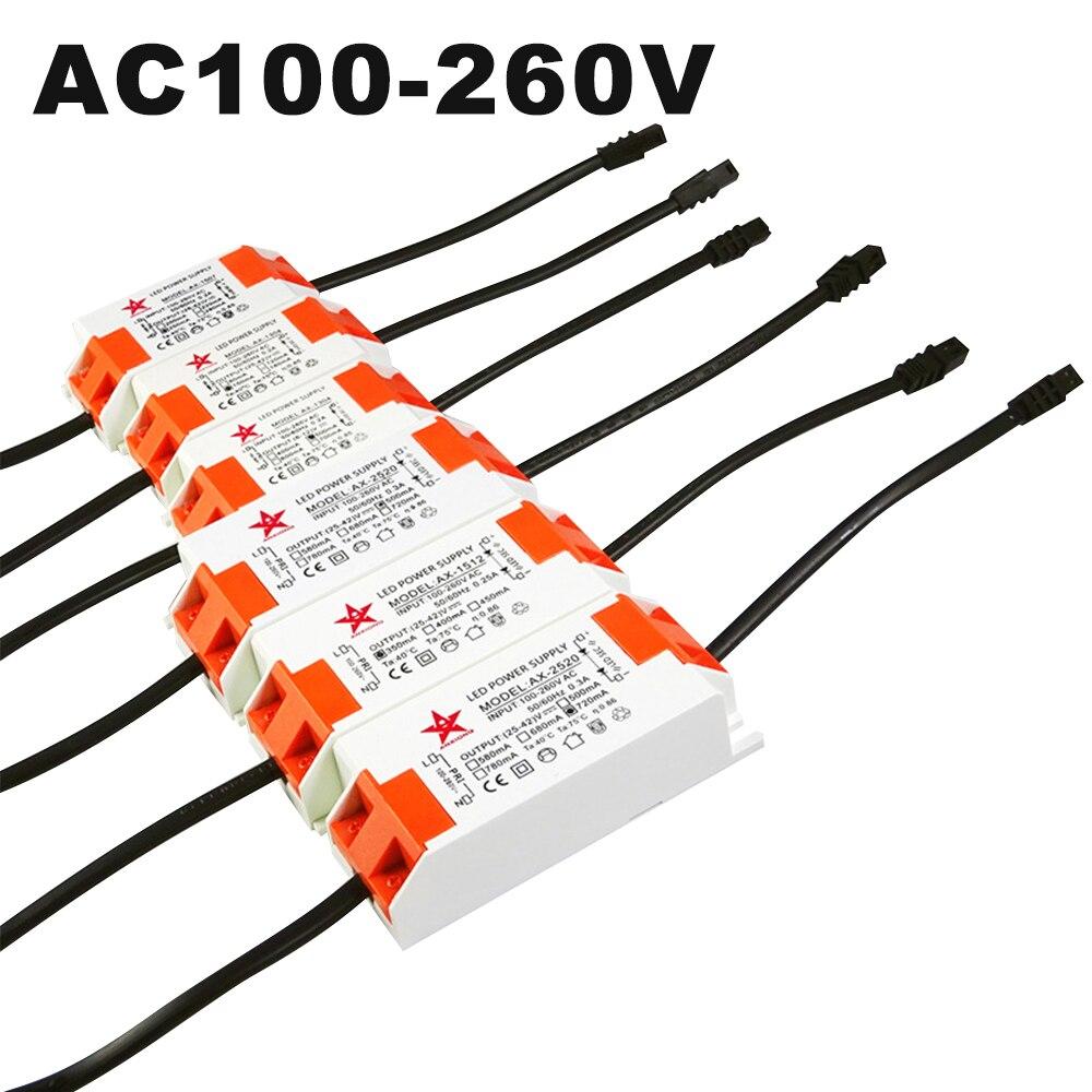 Светодиодный источник питания AC110V AC220V, 250mA 350mA 500mA 720mA 1050mA с драйвером постоянного тока для светодиода светодиодный драйвер CREE COB Bead с Гнездо SM