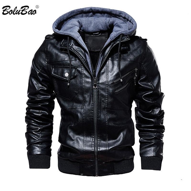BOLUBAO Coat Jackets Hooded Comfortable Winter Casual New Male PU Men Men's Fashion-Brand