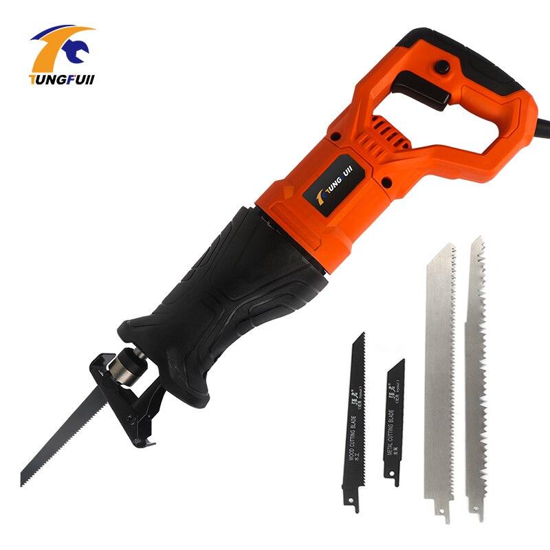 750W scie électrique scie alternative pour bois métal Plasitic tuyau coupe puissance scie outil avec lames de scie - 6