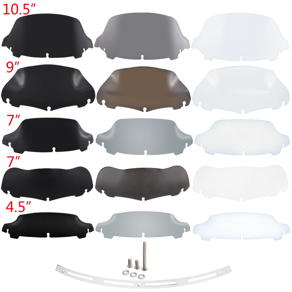 Wind Deflector Windscreen For Harley Touring Glide FLHT FLHX 2014-Up Motorcycle Fairing Windshield Accessories