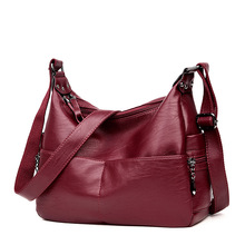 New Middle-aged Lady Shoulder Bag Korean Trendy Women Bag Retro Messenger Bag PU Casual Tote fashionable women s pu cover opening messenger bag tote bag w chain silver