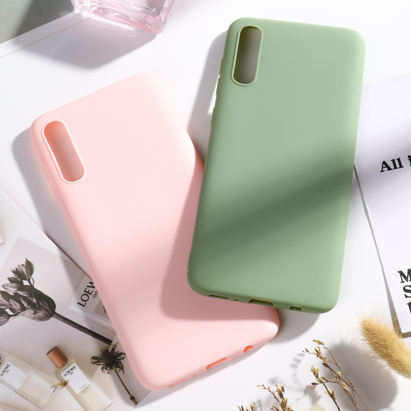 Candy Silicon <font><b>Case</b></font> For <font><b>Samsung</b></font> Galaxy A50 A70 A40 A20 A10 A30 A20s A20e A60 A10s A7 2018 <font><b>A6</b></font> A8 Plus A5 <font><b>2017</b></font> A90 5G <font><b>Case</b></font> Covers image