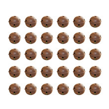 100 Pcs 2.5CM Rust Christmas Iron Bells Pendant Accessories Pentagram Pattern Hanging Collar Decor Accessories Supplies for DIY