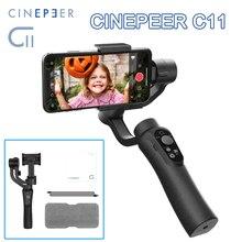 CINEPEER C11 כף יד מייצב 3 ציר אובייקט מעקב Smartphone Gimbal עבור וידאו Vlog מופעל על ידי ZHIYUN VS isteady