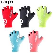 Giyo Guantes antideslizantes para Ciclismo, de medio dedo, para carreras y Ciclismo de montaña