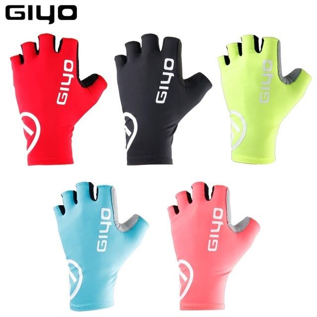 Giyo brise vent cyclisme demi doigt gants anti dérapant vélo moufles course route vélo gant vtt Biciclet Guantes Ciclismo