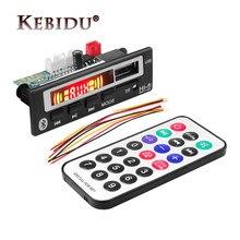Kebidu bezprzewodowy Bluetooth 5 V-12 V MP3 WMA WAV płyta dekodera moduł audio głośnik do muzyki MP3 USB FM TF Radio samochodowe akcesoria