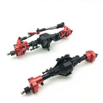 אלומיניום CNC Anodized מלא קדמי אחורי פורטל סרן עבור 1/10 RC מכונית סורק צירי SCX10 השני 90046 90047 שדרוג חלקים