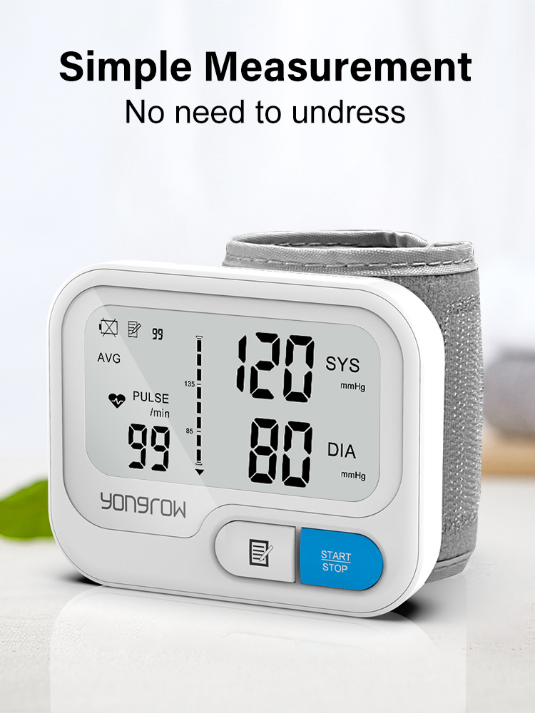 Tonometer Blood-Pressure-Monitor Wrist Yongrow Heart-Rate Digital Automatic Lcd