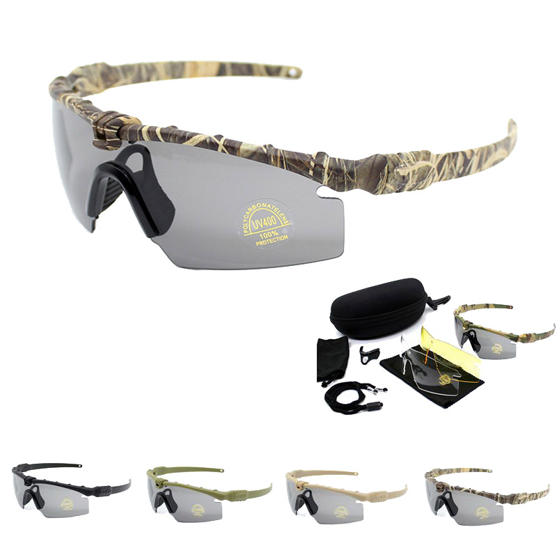 Sport Polarized Tactical Glasses Military Goggles Army Sunglasses Men With 4 Lenses Safety Hunting Shooting Protective Glasses