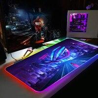 Anime Gaming RGB Backlit Mause Pad XXL Große Mauspad Schreibtisch Tastatur LED Mäuse Matte DIY Nach ASUSS