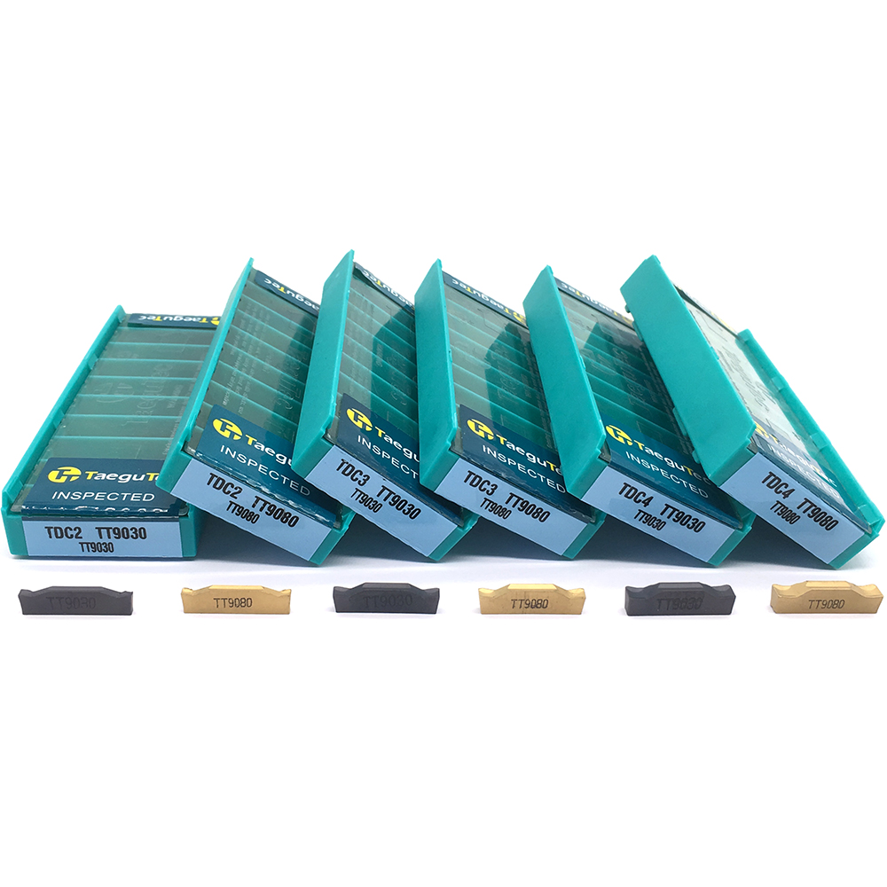10pcs TDC2 TDC3 TDC4 TT9080 TT9030 Carbide Inserts TaeguTec 2MM 3MM 4MM Grooving CNC Lathe Tool Turning Tool CNC Tools Slotting