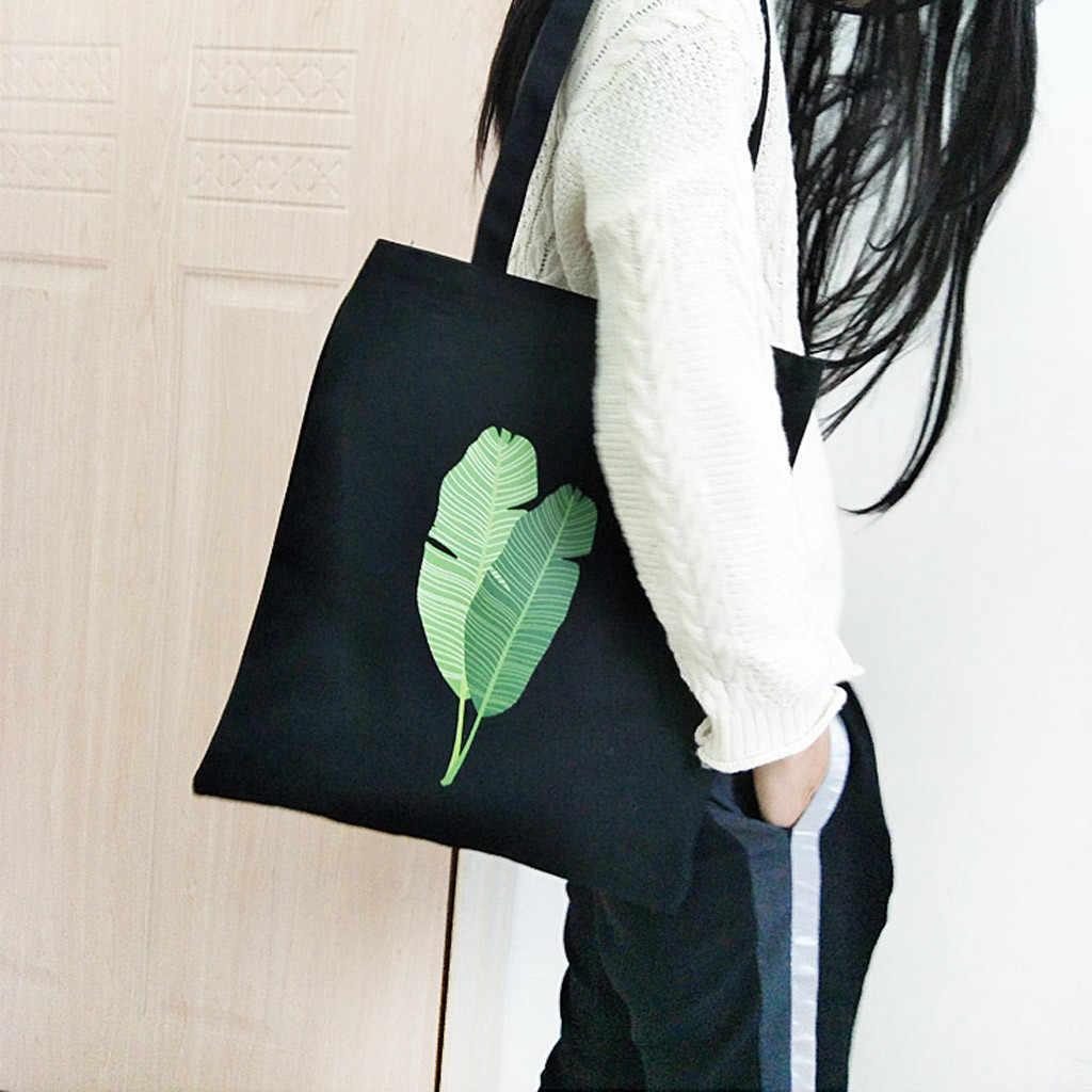 Kanvas Tote Tas Bahu Belanja Katun Tas UNTUK WANITA HITAM Sampanye Double Tali Kasual Tas Sekolah Anak Perempuan Buku Kantong F