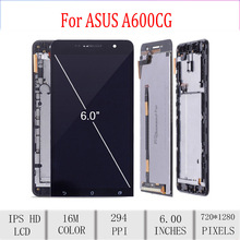 Original For ASUS Zenfone 6 A600CG LCD Display Touch Screen Digitizer Assembly For Asus A600CG Display with Frame Repacement стоимость