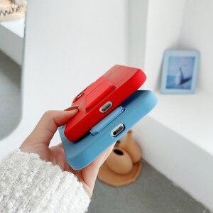 Image 5 - Coque de téléphone en Silicone liquide avec dragées, couleur bonbon, pour iPhone 12 Pro Mini 11 Pro Max X XR XS Max 7 8 Plus SE 2020