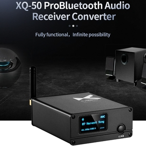 Image 2 - XDUOO XQ 50 Pro DAC HD Bluetooth Audio Receiver Decoder Converter Multifunction OLED Display Type C Adapter Support PC USB DAC