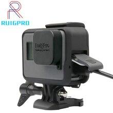 ل GoPro اكسسوارات GoPro بطل 8 7 6 5 إطار واقية حافظة كاميرا الإسكان ل GoPro Hero5 6 أسود عمل الكاميرا