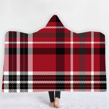 Plaid Magic Hooded Blanket For Home Travel Picnic 3D Printed Sherpa Fleece Blanket Wearable Warm Throw Blanket For Adults Childs plaid magic hooded blanket for home travel picnic 3d printed sherpa fleece blanket wearable warm throw blanket for adults childs
