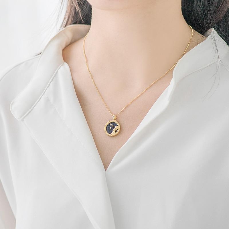 Image 3 - Silvology, Голубой песок, камень 12, подвеска созвездия,  ожерелье, 925 пробы, серебро, элегантное ожерелье для женщин, 925,  ювелирные изделия на день рожденияОжерелья