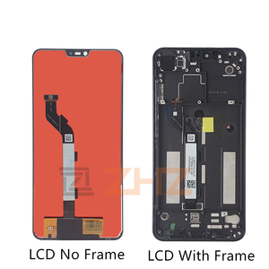 Image 2 - For Xiaomi Mi 8 Lite lcd display touch screen Digitizer Assembly  with frame for mi 8 lite display repair parts