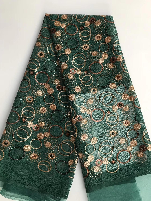 Mode style paillettes français dentelle tissu bonne qualité paillettes net tulle dentelle tissu pour robe de soirée de mariage DPNO221