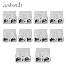 Justech 10 шт. для Anderson стиль штепсельные Разъемы 50A 600 в 6AWG посеребренные Твердые медные клеммы AC/DC электроинструмент