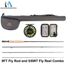 Maximumcatch 5/6WT 9FT Fly Fishing Rod with Pre-spooled Reel Outfit With Cordura Triangle Tube колонна напольная сосна лоредо comforty марио 00003121676