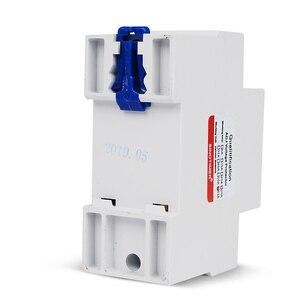 Image 2 - 63A 220 24v din レール可変電圧プロテクターリレー電流制限保護と電力計 kwh 電力量計消費電力