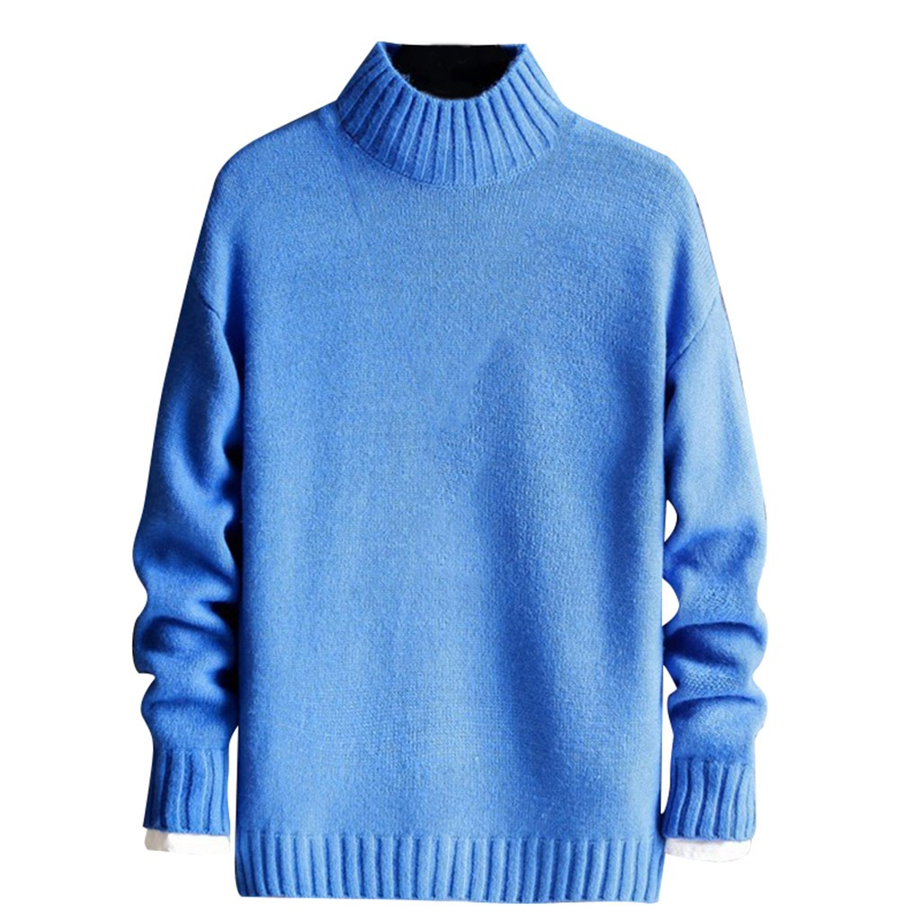 Sweater Men Long Sleeve 2019 New Style Fashionable Pure-Color High Quality Men Sweaters Knit Sweater Man
