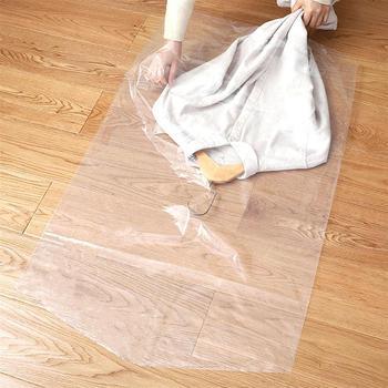 30 sztuk ubrania kurz pokrywa przezroczysty z tworzywa sztucznego worki odzieżowe jednorazowe pyłoszczelne torby do przechowywania szafa wisząca odzież płaszcz osłona przeciwpyłowa tanie i dobre opinie CN (pochodzenie) Clothes Dust Cover Stałe 100 poliester Nowoczesne Disposable Dust Suit Bag Waterproof Garment Bags Wardrobe Hanging Clothing Coat Dust Cover