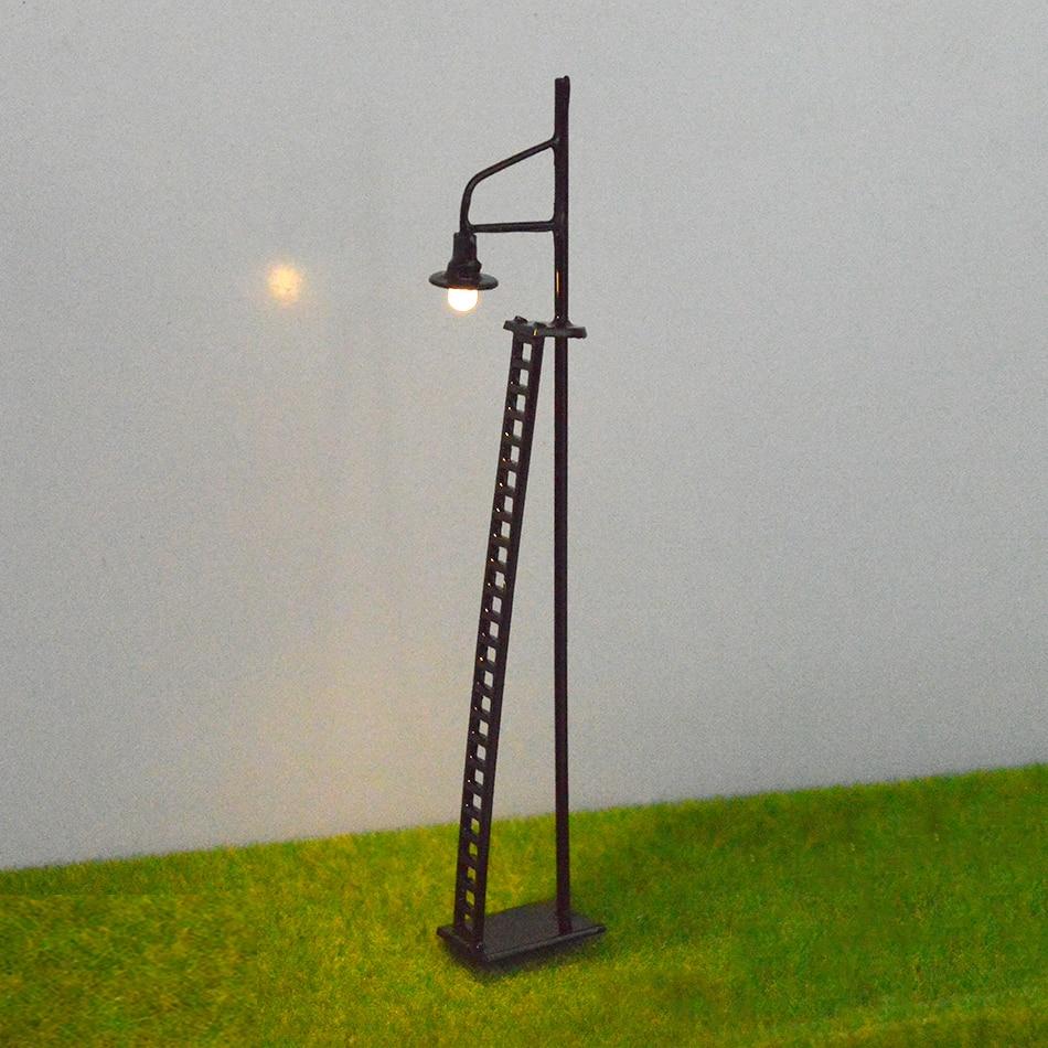 1:100-150 modelo de escala de alta qualidade arquitetura led sinal luzes de trânsito lâmpada lâmpada trem