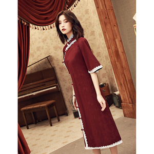 Image 3 - 2020 Vestido De Debutante Cheongsam 2020 Summer New Modified And Linen Robe Young Girl Students Cute Little Sweet Wind Clothing
