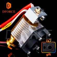 V6 gold HeatSink v6 hotend 12V/24V remote Bowen J-head and cooling fan bracket for E3D HOTEND PT100 titan extruder nozzle