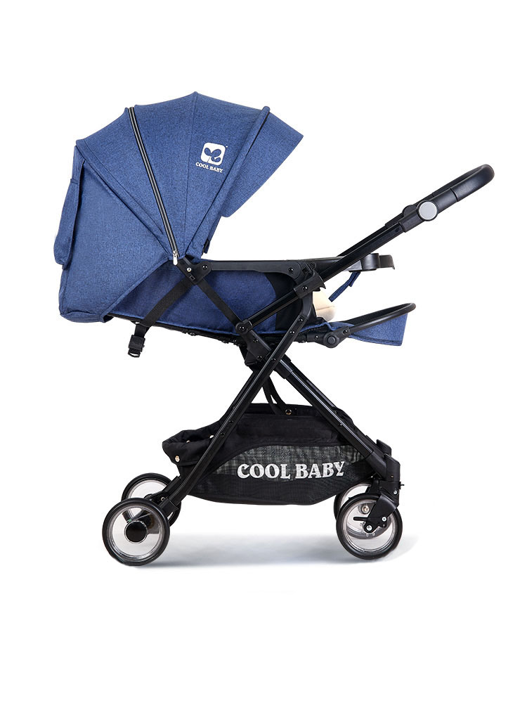 High Landscape Baby Stroller Can Sit And Lay Two-way Shock-absorbing Child Stroller Ultra Light Folding Stroller