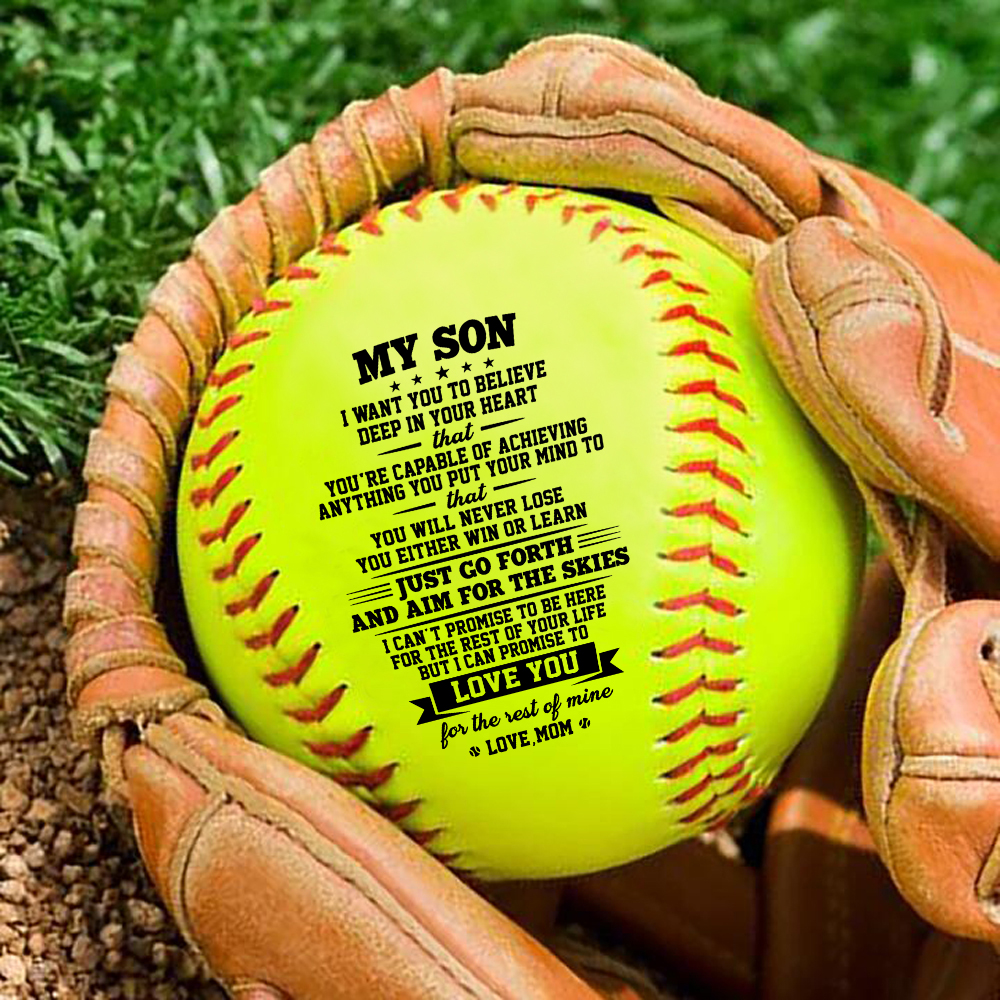 Mom To My Son Print id of the standard softball as a birthday Christmas present graduation Christmas gift.