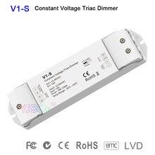 Single color CV led triac dimmer V1-S Logarithmic dimming curve single color led strip light controller 1CH*15A 12V-48V DC