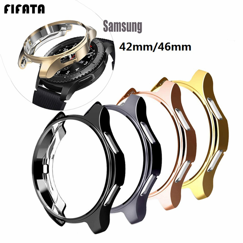 Bezel Ring Case For Samsung Galaxy Watch 46mm Protective Shell For Galacy Gear S3 / Galaxy 42mm TPU Protector Frame Accessories