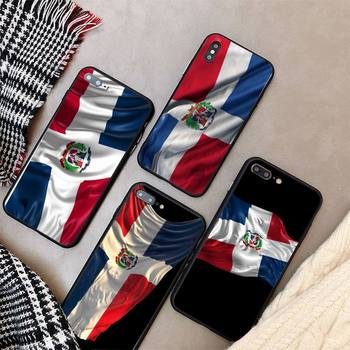 Yinuoda Fashion dominican republic flag Phone Case cover For iPhone X 8 7 6 6S Plus XS MAX 5 5S SE XR 11 12 Pro Promax coque image