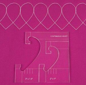 Image 5 - 재봉틀을위한 새로운 통치자 국경 샘플러 템플릿은 아름다운 테두리를 만들 수 있습니다 1 set = 4pcs # RL 04W