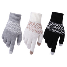 Winter Warm thick touch screen gloves Women's Cashmere wool