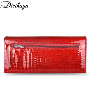 Image 2 - DICIHAYA Leather Wallet Women Classic Alligator Hasp Long Wallets Female Cards Holder Clutch Bag Fashion Cowhide Ladies Purses