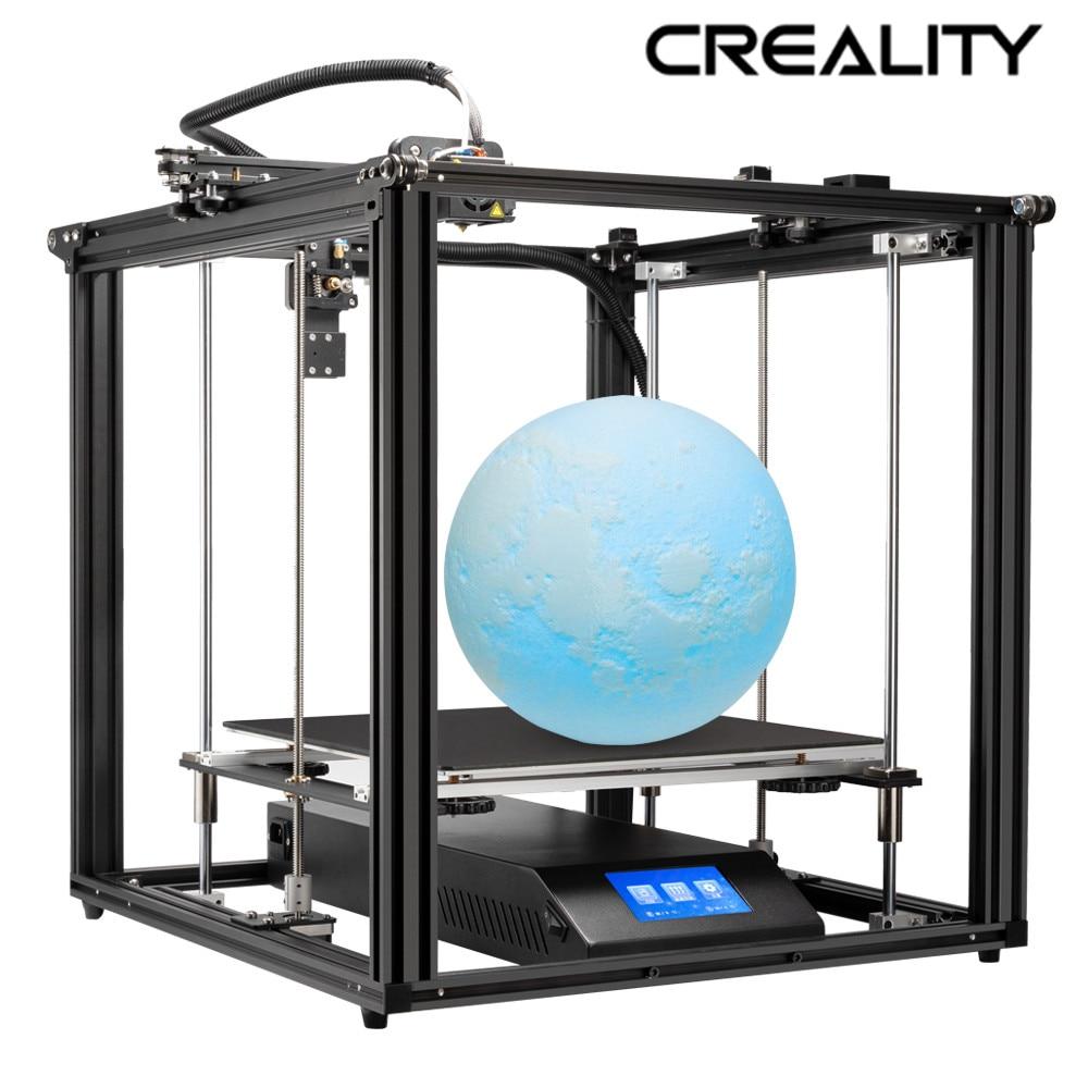 Creality 3d Ender-5 plus 3d impressora dupla z-axis v2.2 mainboard marca fonte de alimentação com sensor de filamento de impressão de currículo
